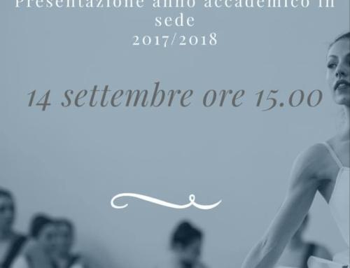 Inizio anno accademico 2017-18